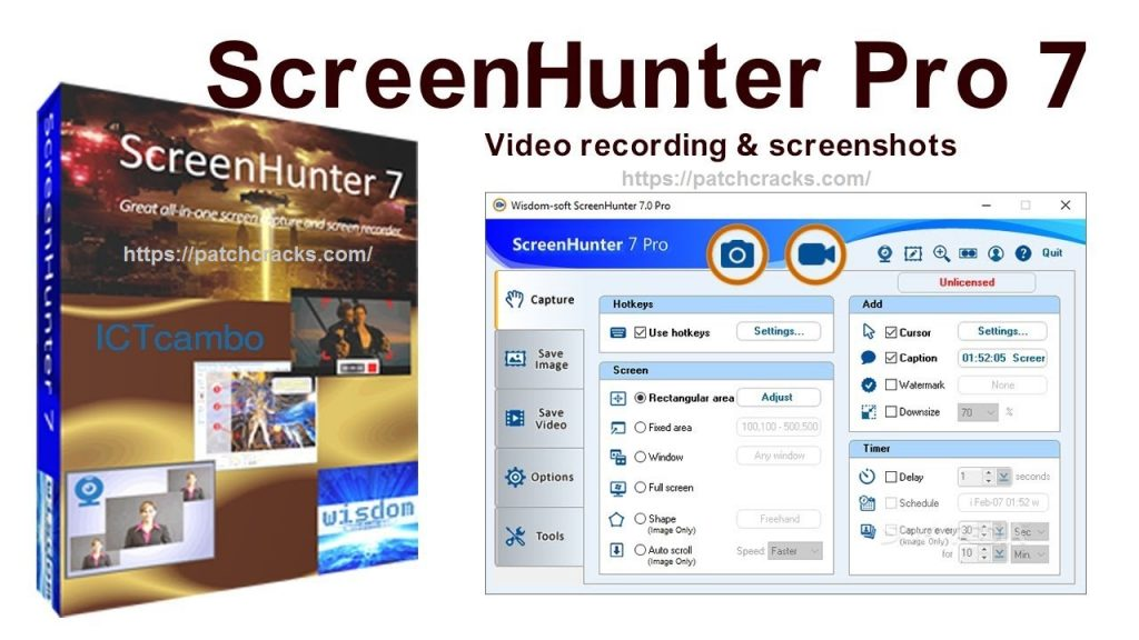 ScreenHunter 7.0.1095 Pro/ 7.0.579 Plus/ 7.0.369 Crack